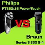 Jaką golarkę kupić – Philips PT860/16 PowerTouch czy Braun Series 3 330 S-4?