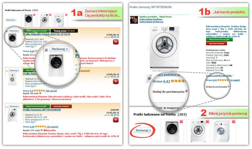 Porównanie pralek