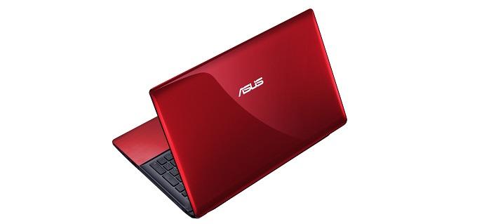Czerwony laptop