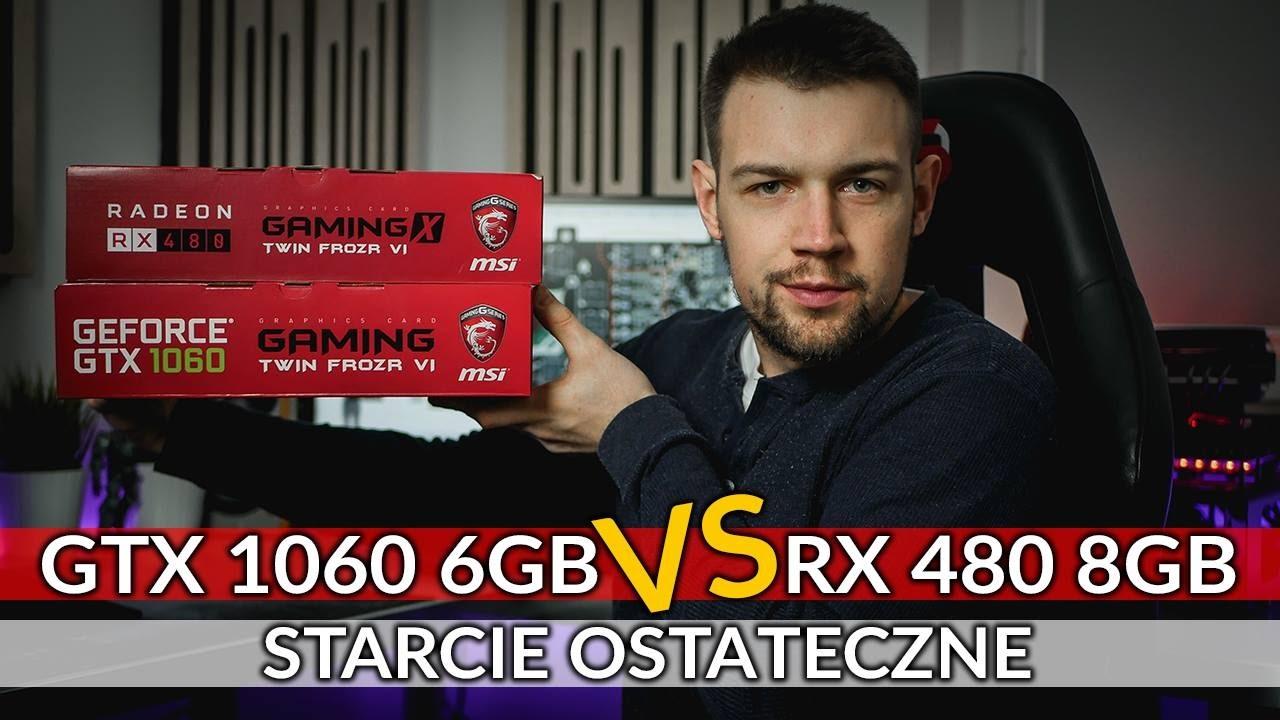 RX 480 8GB vs GTX 1060 6GB