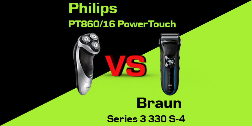 Philips PT860/16 PowerTouch czy Braun Series 3 330 S-4