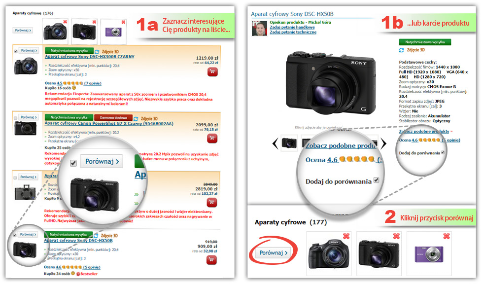 Porównanie aparatów cyfrowych
