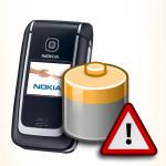 Bateria do Nokia 6136. Akumulator do telefonu.