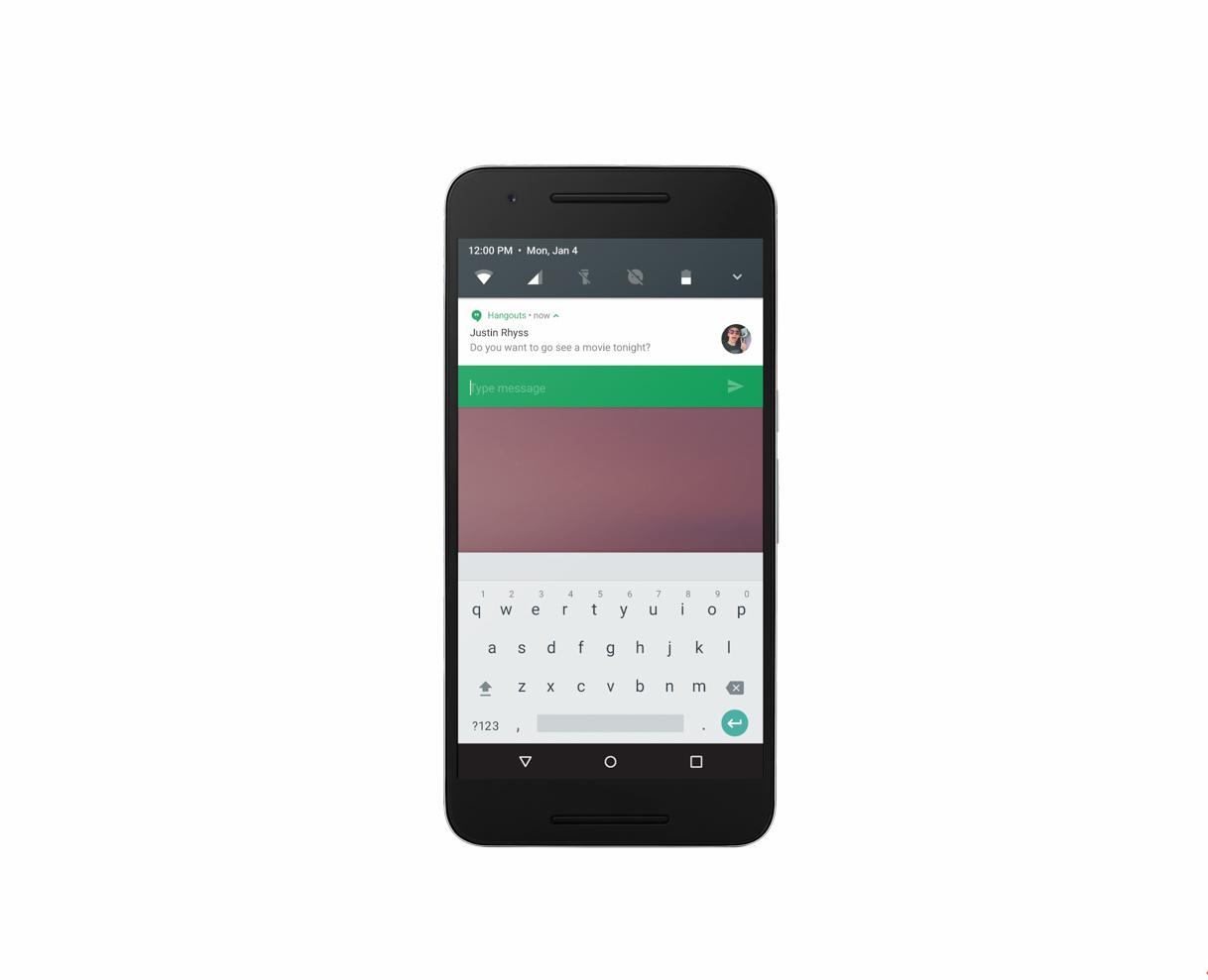 Android N powiadomienia