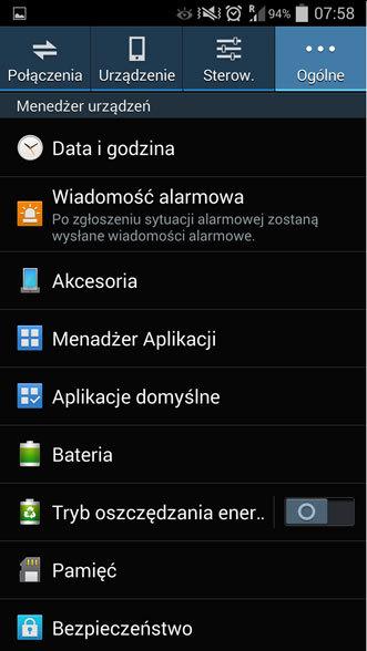 android menadżer aplikacji