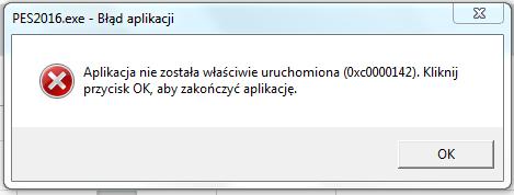 błąd aplikacji 0xc0000142