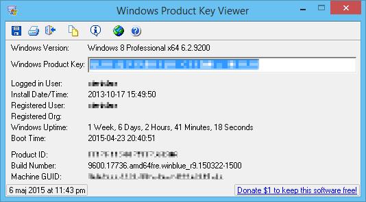 windows klucz