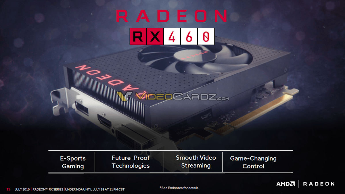 AMD Radeon RX 460 karta
