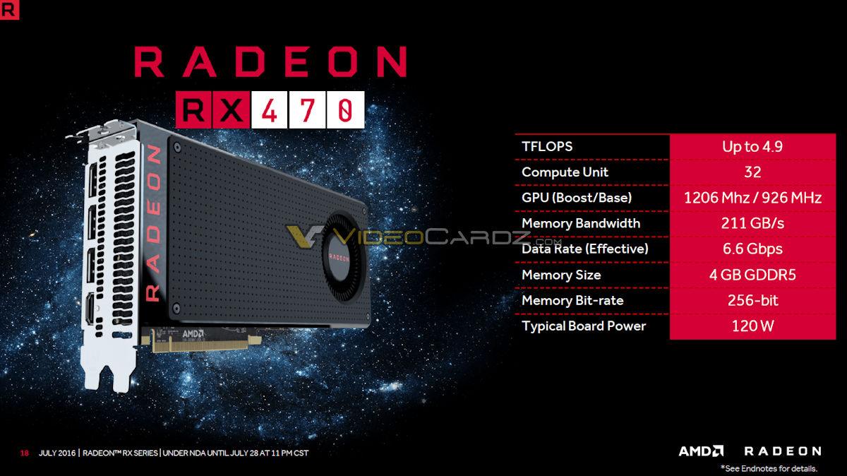 AMD Radeon RX 470 karta