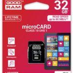 MicroSD GoodRam microSDHC 32GB CL10, UHS-I + Adapter (M1AA-0320R11)