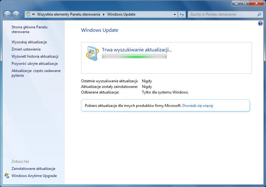 windows 7 problem z aktualizacją