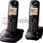 Telefon bezprzewodowy Panasonic KX-TG2512PDT Czarny (2 Słuchawki) instrukcja obsługi